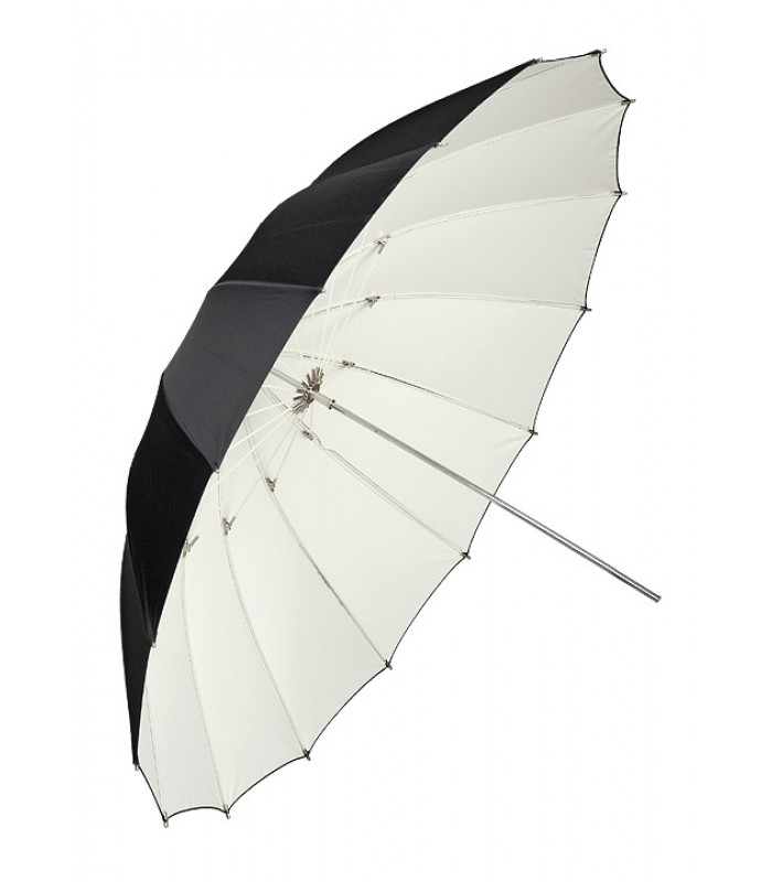 Бял отражателен чадър 180 см FIBRO