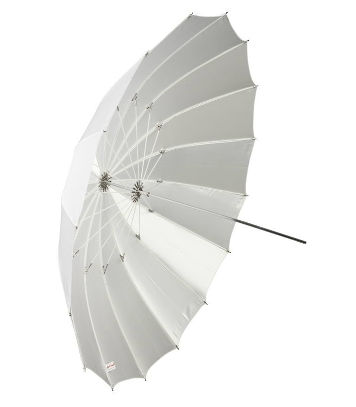 Бял дифузен чадър 180 см FIBRO