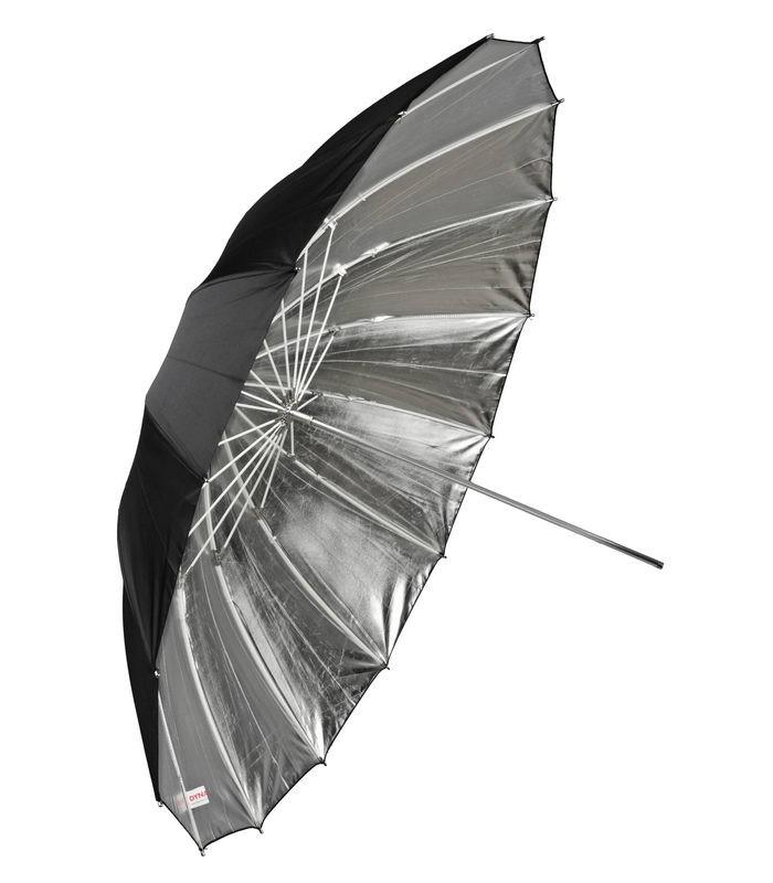 Сребрист отражателен чадър 180 см FIBRO