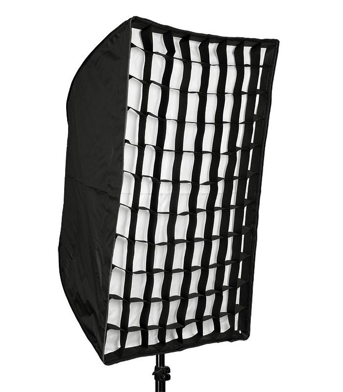 Бокс-чадър за ръчна светкавица 60X90 см с грид