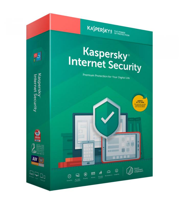KASPERSKY INTERNET SECURITY – 1 година, нов абонамент за 3 устройства