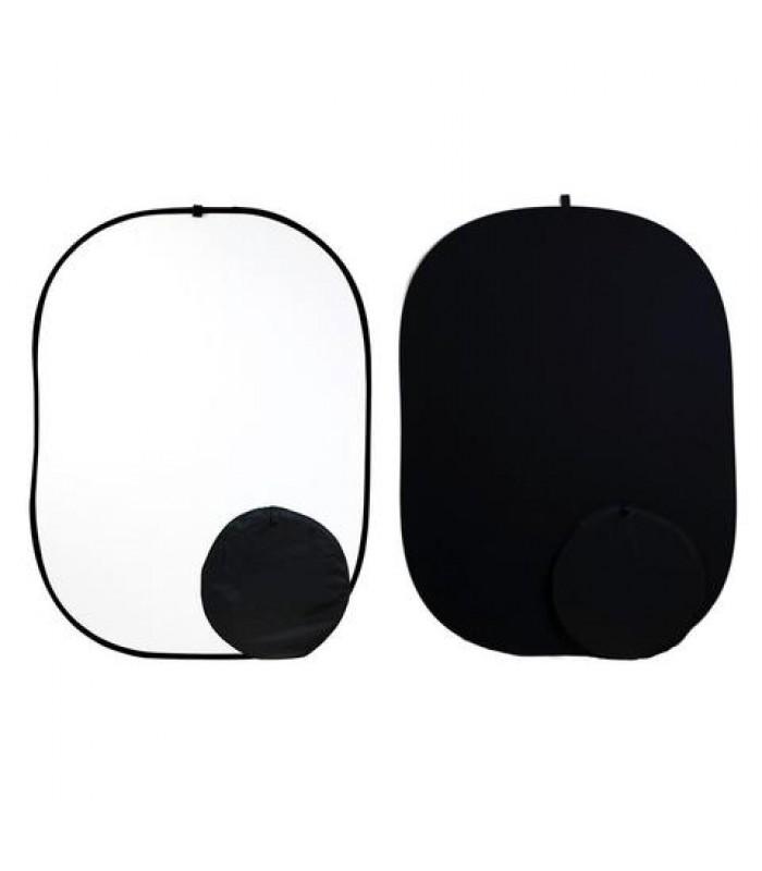 Сгъваем фон с две лица 150 х 200 см Черно / Бяло