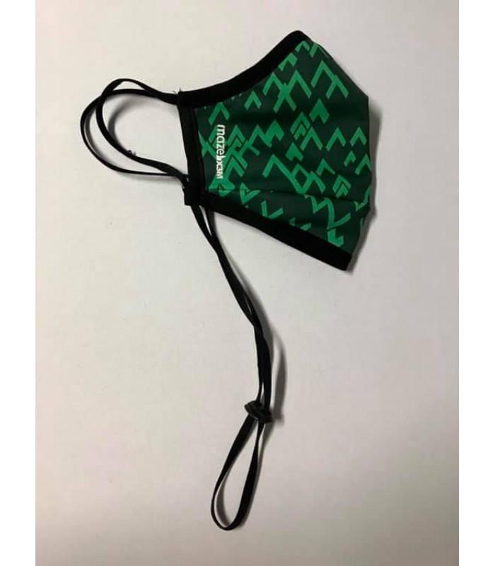 Висококачествена дизайнерска трипластова защитна маска за многократна употреба ABSTRACT #GREEN