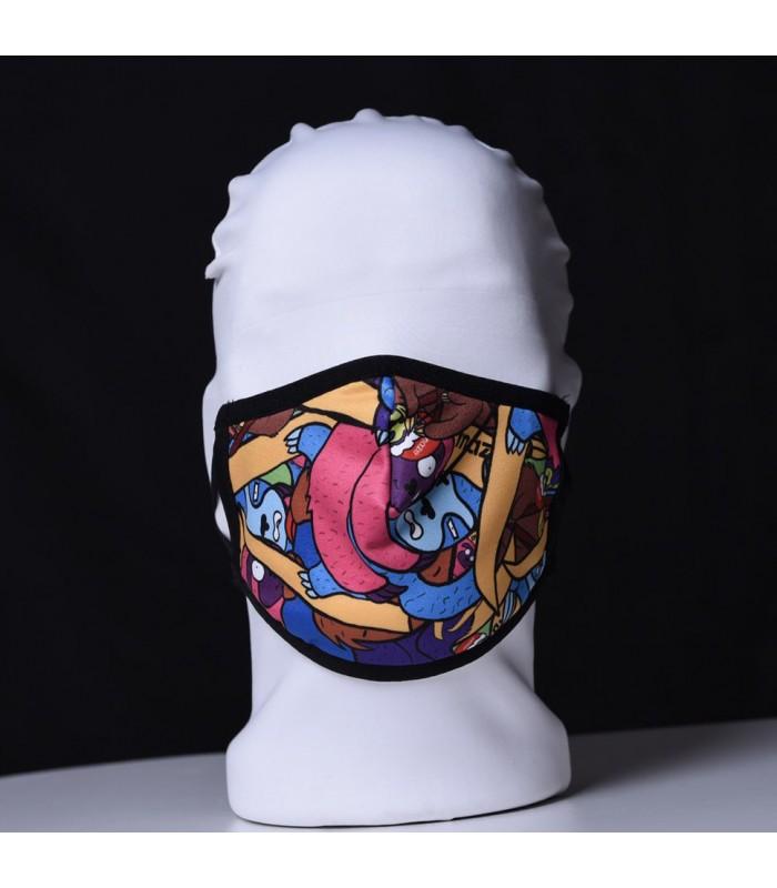 Висококачествена дизайнерска детска трипластова защитна маска за многократна употреба CARTOONS