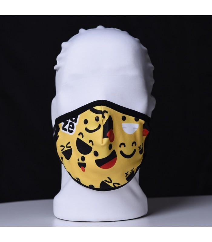 Висококачествена дизайнерска детска трипластова защитна маска за многократна употреба SMILEY