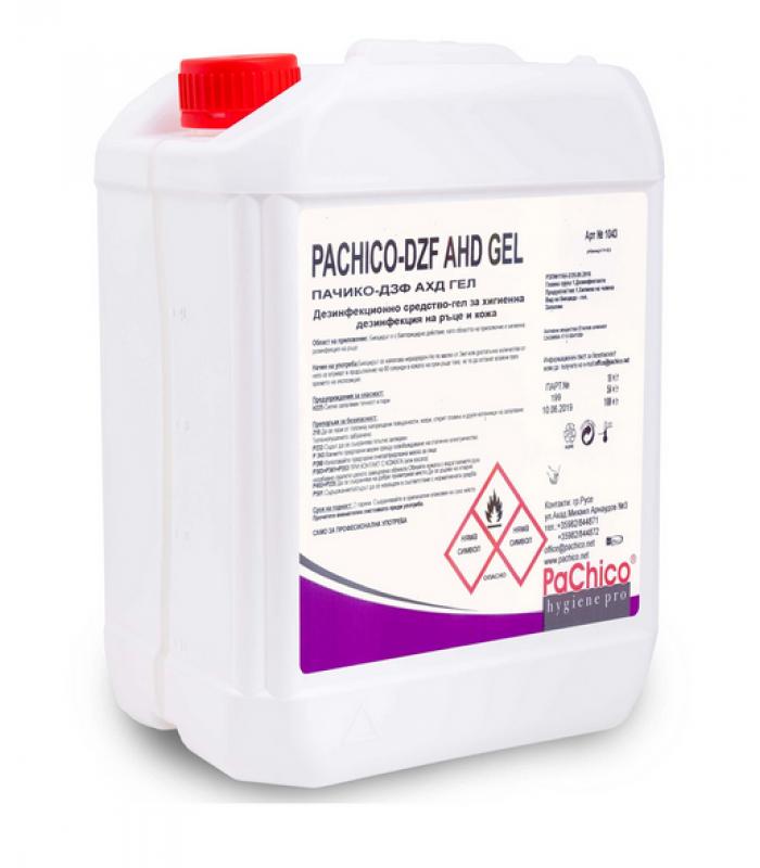 PACHICO Дезинфекциращ препарат за ръце и кожа AHD GEL, гел, професионален, 5 L